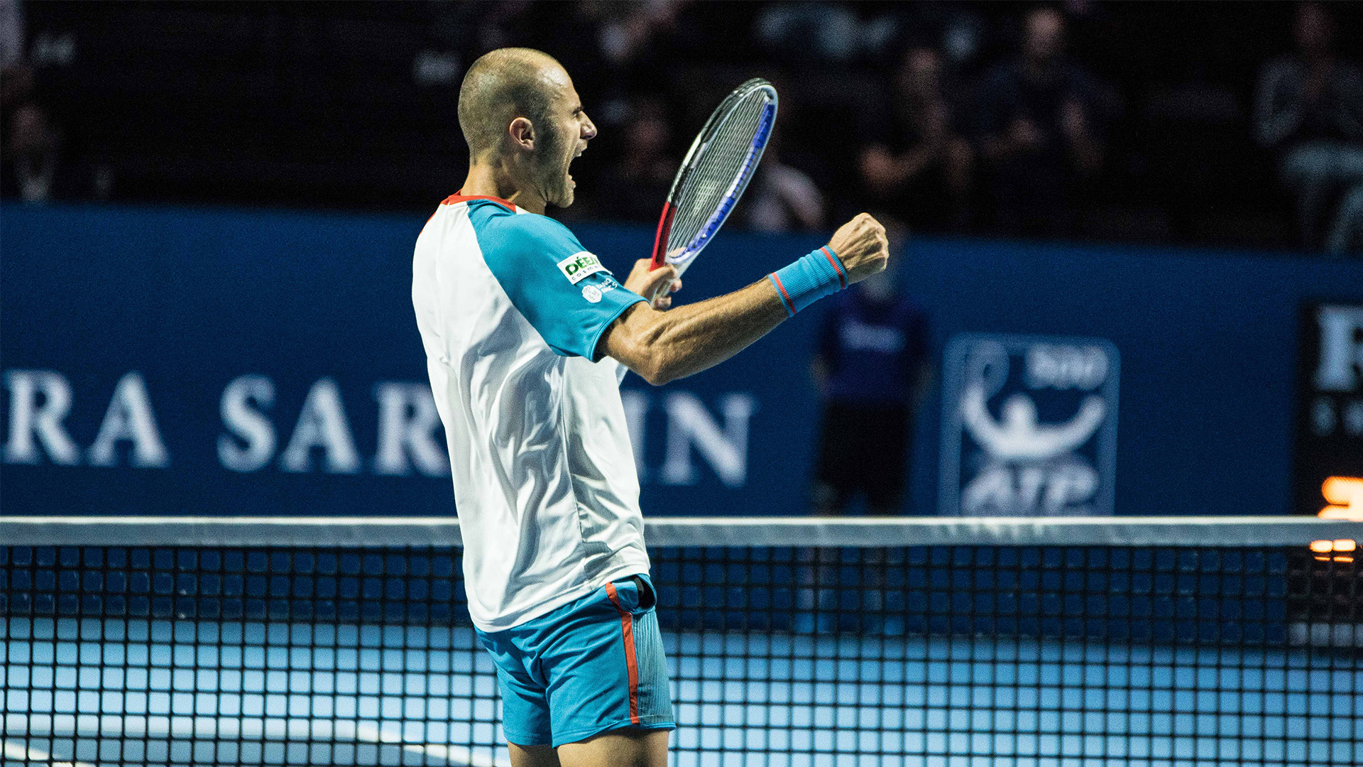 Marius Copil defeats Marin Cilic in the quarterfinals, in Basel