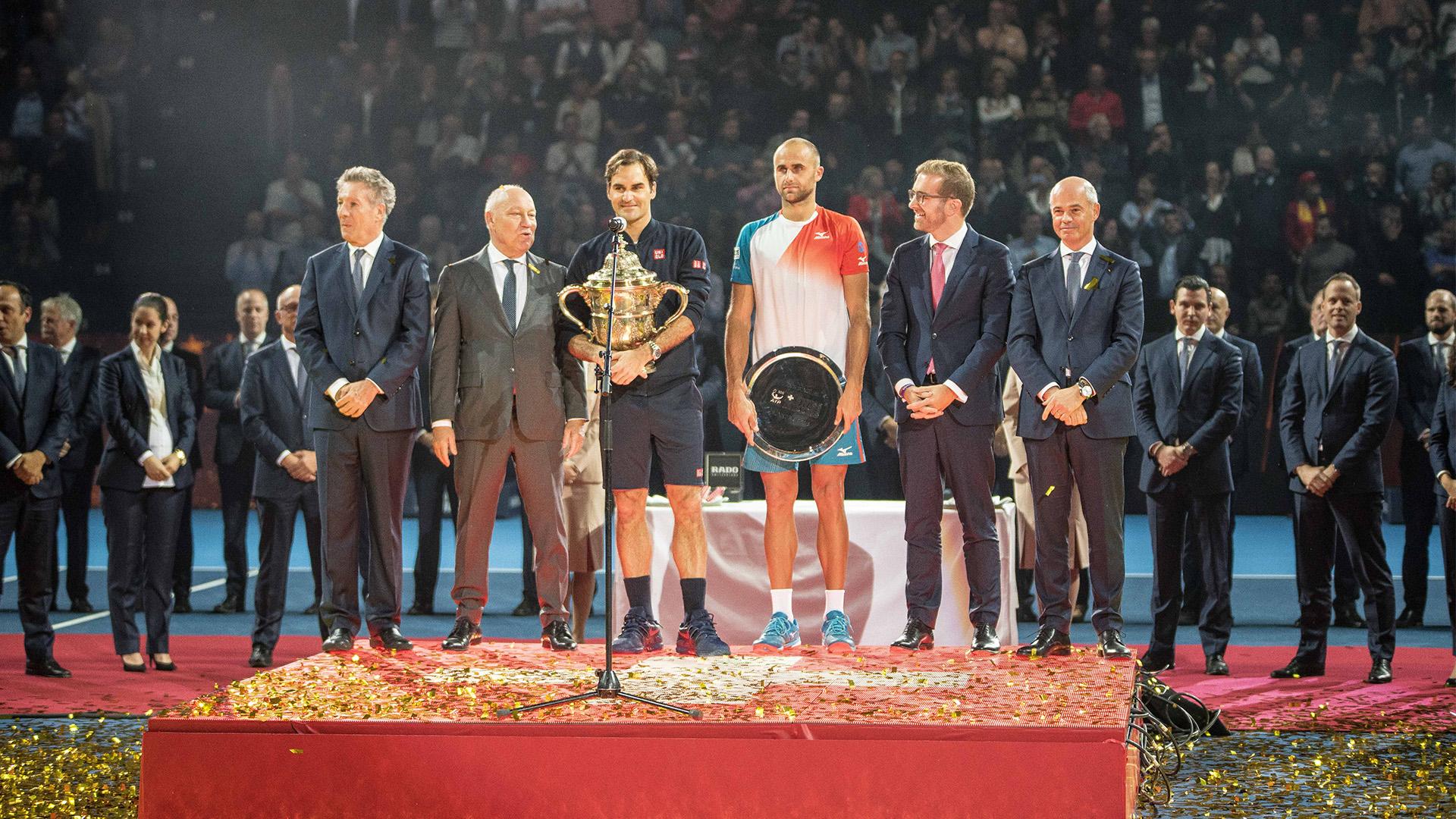 Marius Copil la ceremonia turneului de la Basel