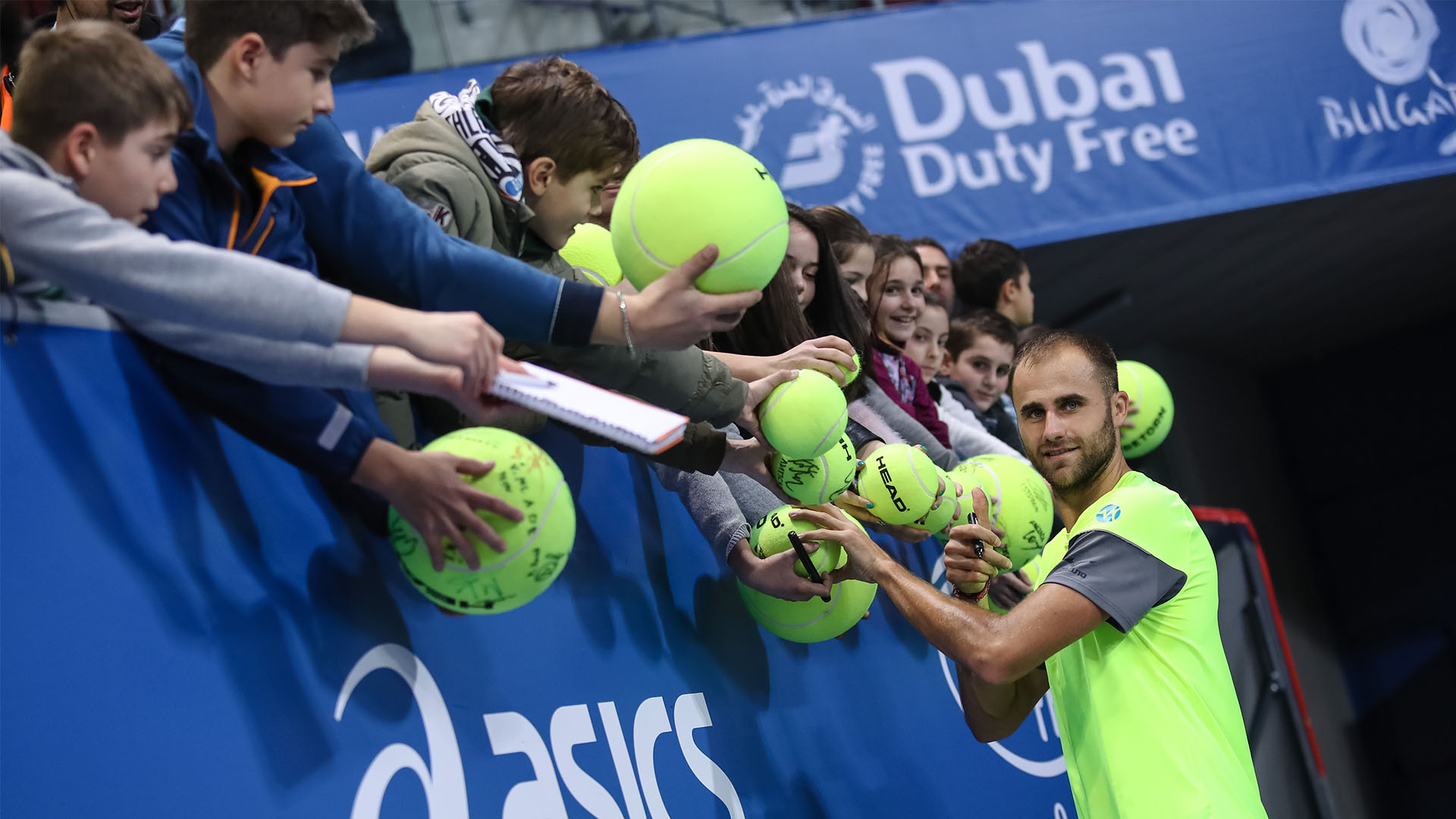 Marius Copil after the victory against Gilles Muller